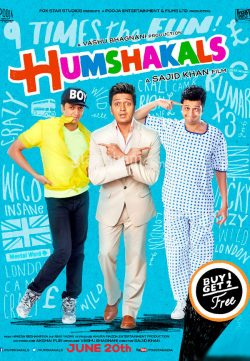 Humshakals (2014) Hindi Movie Full HD 720p 250MB Free Download