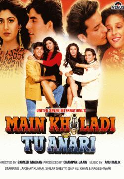 Main Khiladi Tu Anari (1994) Hindi Movie 400MB Free Download 480p