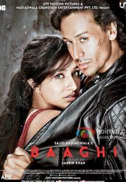 Baaghi (2016) Hindi Movie 1CD DvDRip XviD ESub 350MB