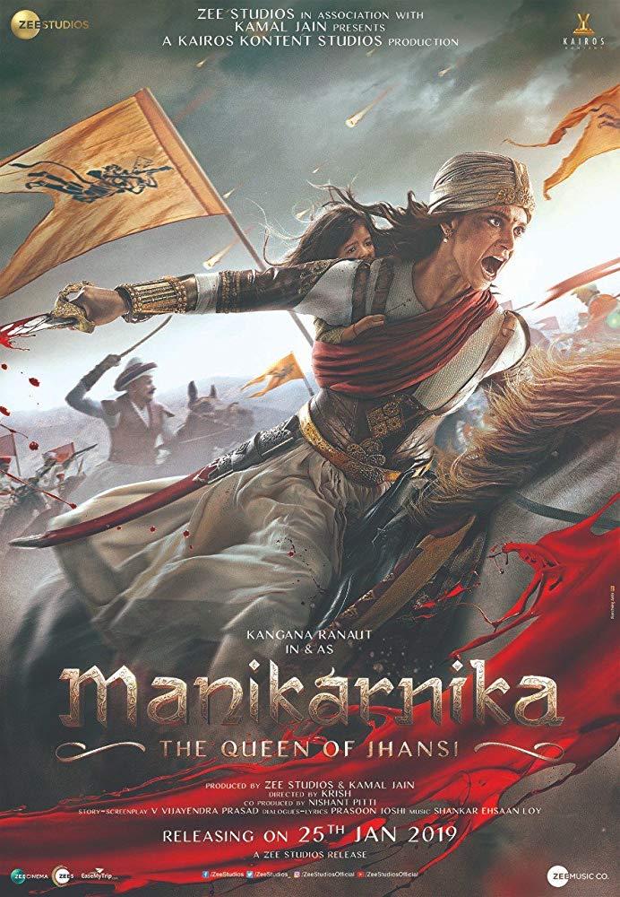 Manikarnika: The Queen of Jhansi (2019) Hindi 400MB HDRip 480p ESubs