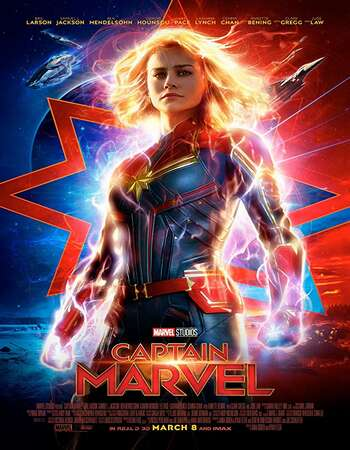 Captain Marvel 2019 Dual Audio Hindi 400MB HDCAM 480p x264
