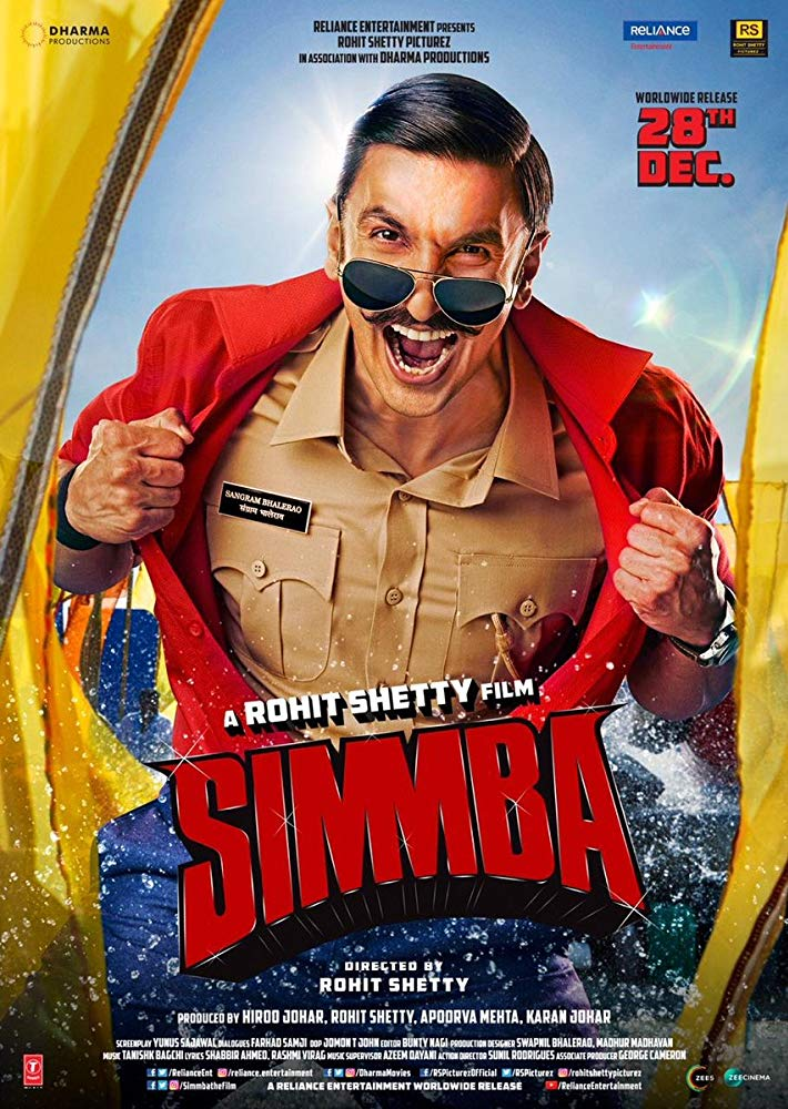 Simmba 2018 Hindi 600MB HDRip 720p HEVC x265 ESubs