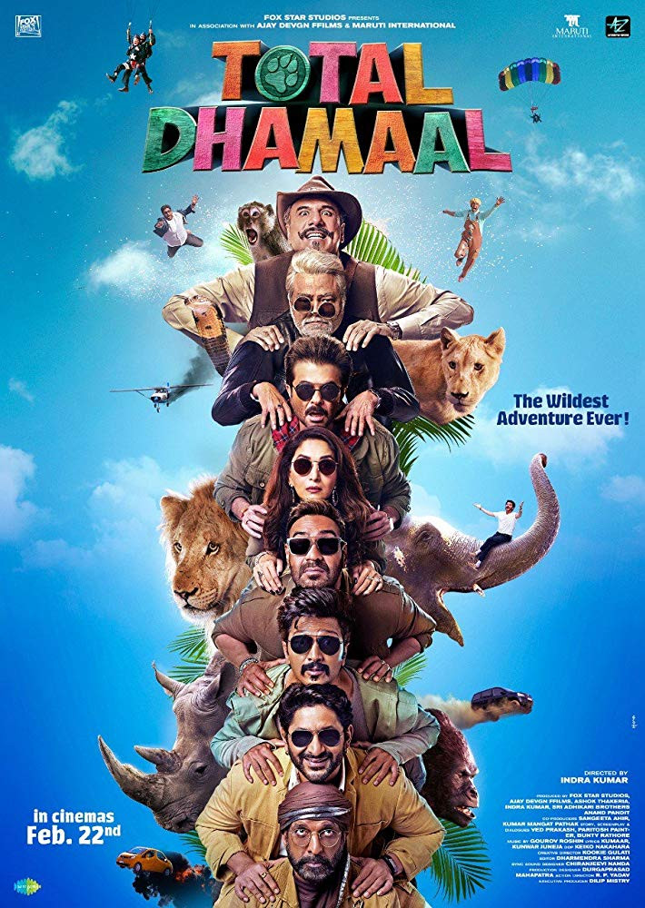 Total Dhamaal (2019) Hindi Movie 600MB HDRip 720p HEVC x265