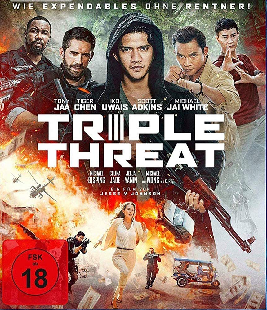 Triple Threat (2019) English 300MB HDRip 480p x264