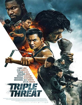 Triple Threat (2019) English 300MB WEB-DL 480p x264